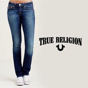 TRUE RELIGION | Slim Straight Low Rise Jeans